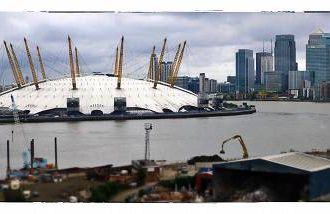 London's Millennium Dome, edited in Snapseed, one of many photo phone tools