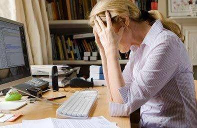 Woman feeling stressed