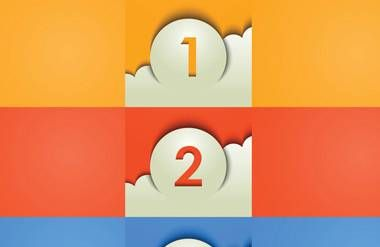 3 steps graphic