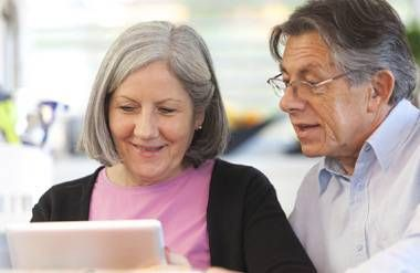 Couple reviewing retirement plan