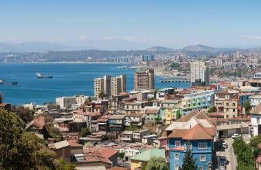 Panoramic view of Valparaiso, Chile