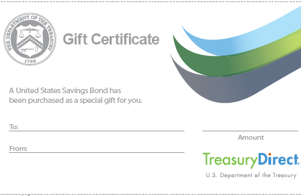 savings bond gift certificate