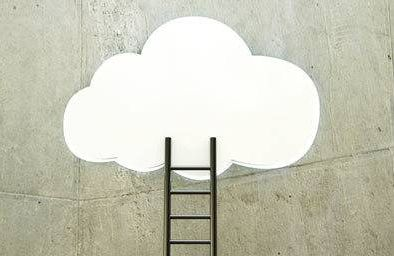 Illustration of ladder going to a cloud
