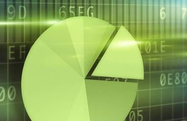 Financial chart illustration