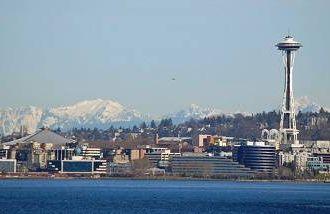 Long shot of Seattle Skyline