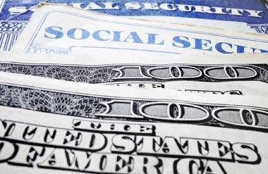 Social security cards and cash
