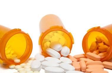 Prescription pills and bottles