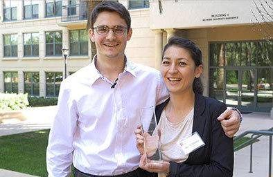 Nicholas Steigmann and Maiya Jensen of California College of the Arts