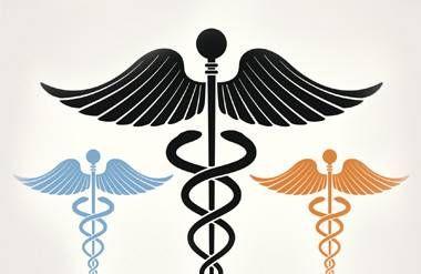 Colorful Medical Sign Caduceus