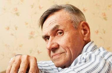 Older retired man