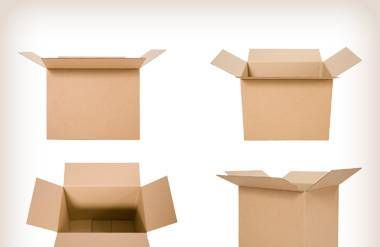 4 cardboard boxes