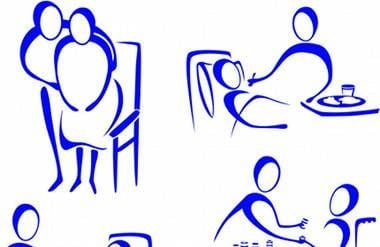 Scenes of giving nursing care