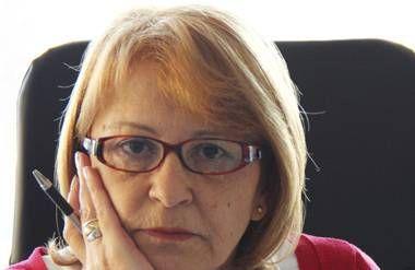 Unhappy businesswoman