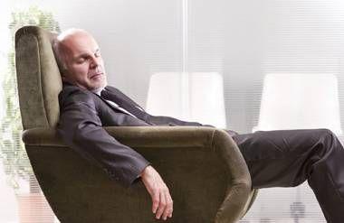 Man sleeping in a chair