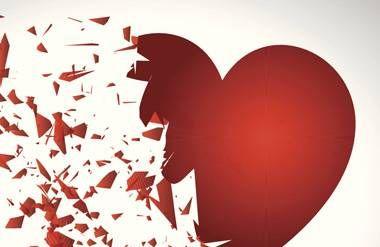 Illustrated broken heart