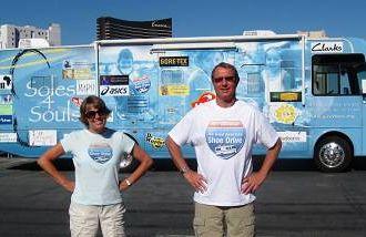 Silvana and Allan Clark were brand ambassadors for Soles4Souls
