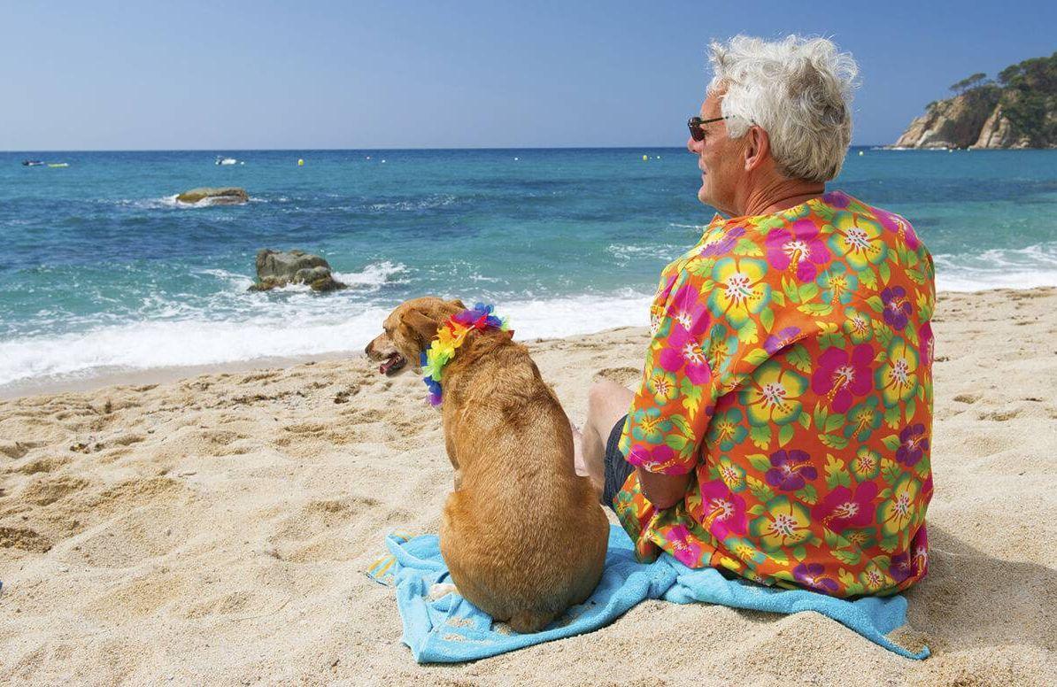 Man vacationing while dog sitting