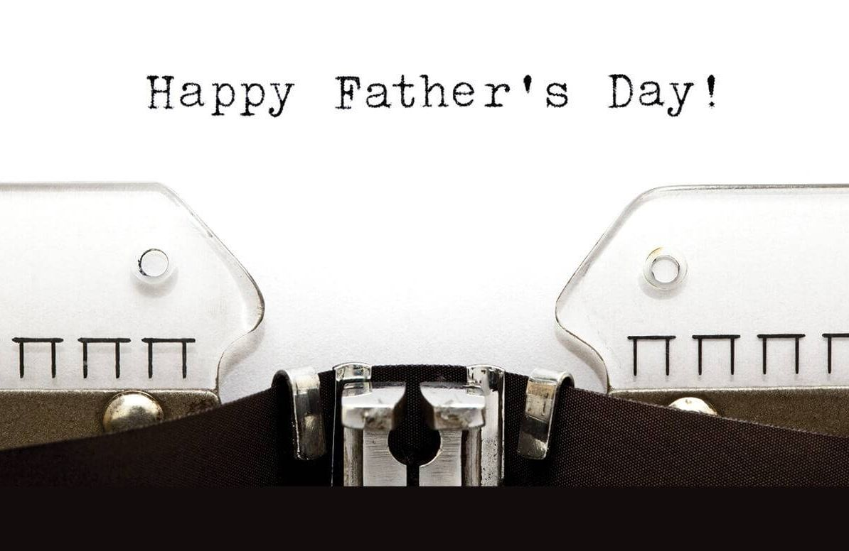 Happy Father's Day on typewriter