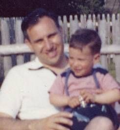 Bob Morris with his father