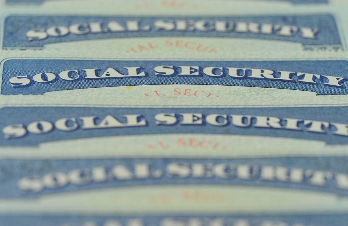 Collection of social security cards