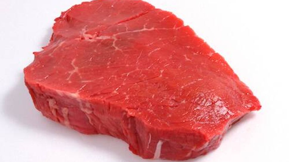 A piece of red meat