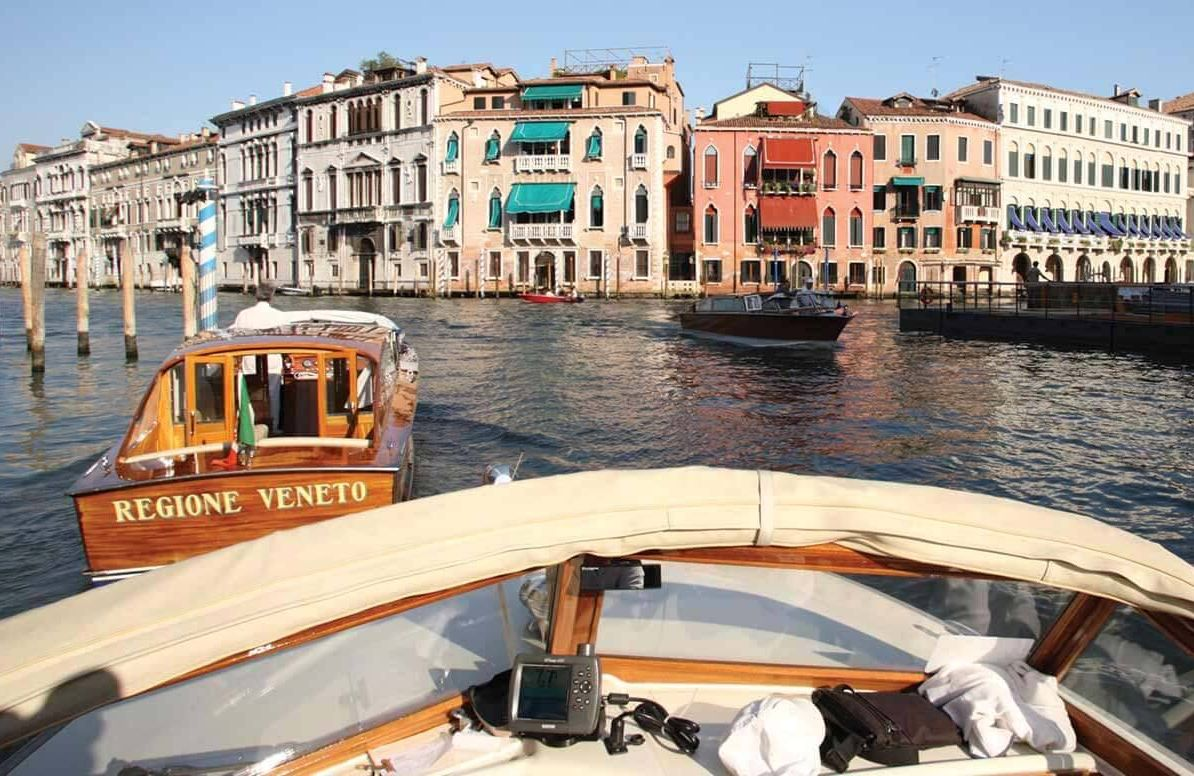 Venice canal view from boat
