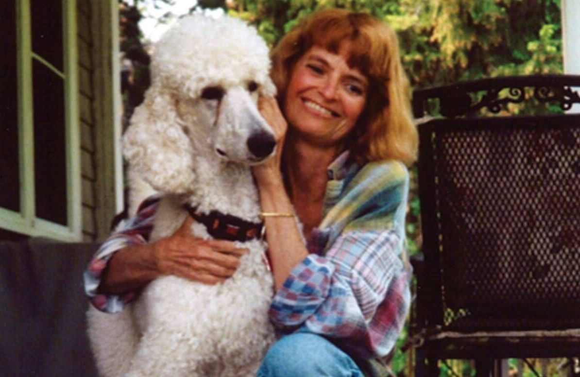 Jane Gross and her dog