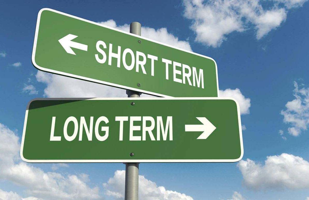 Illustration of short term and long term signs