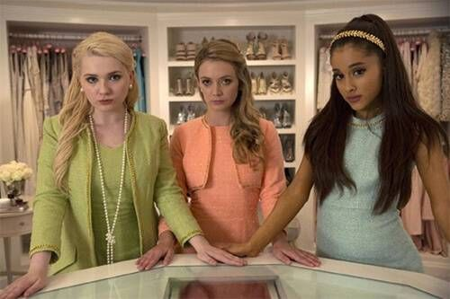 Abigail Breslin, Billie Lourd and Ariana Grande in Scream Queens