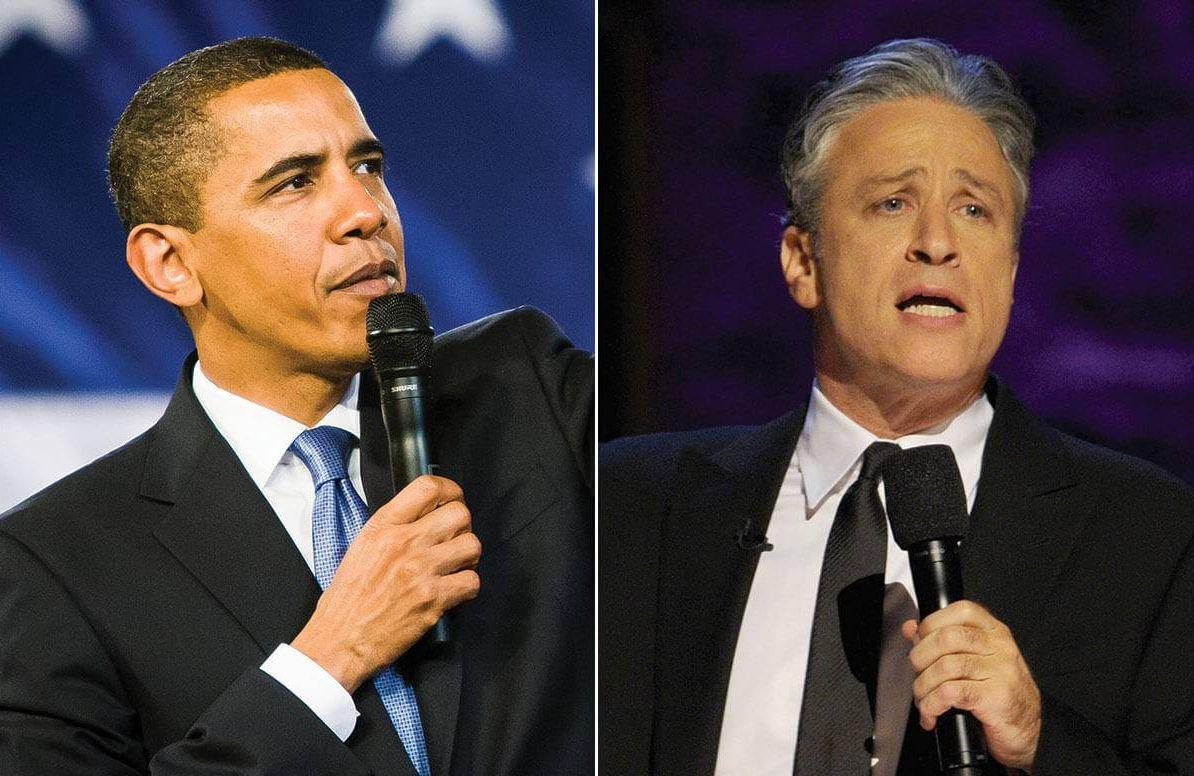 President Barack Obama and Jon Stewart
