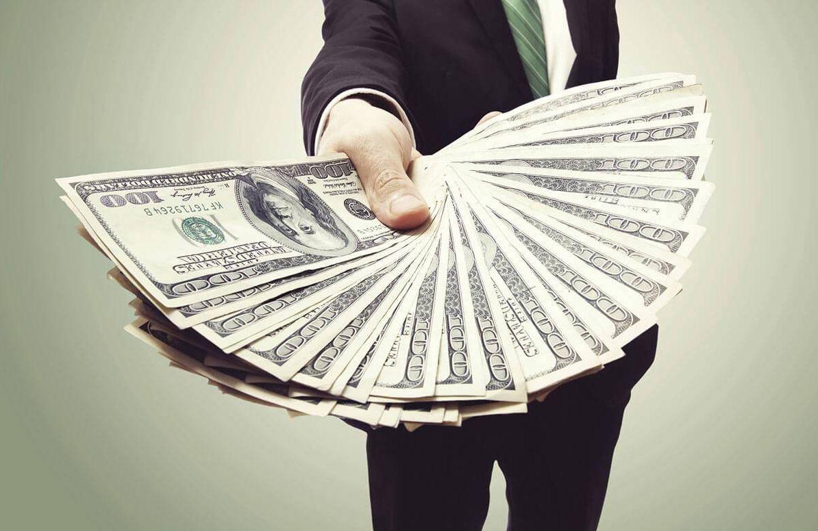 Person handing over money