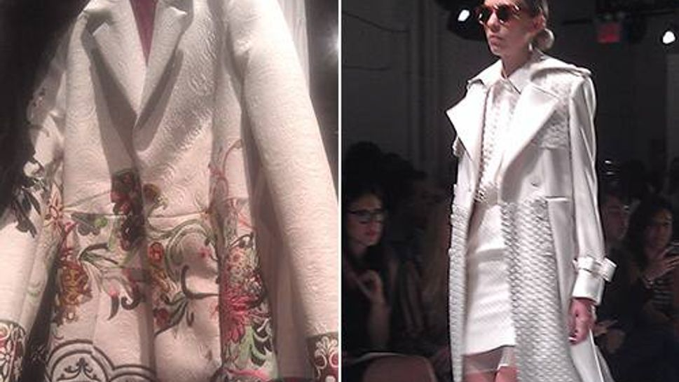 The must-have spring statement? Fun coats, whether patterned like this one by Desigual or on-trend like the all-white Bihbu