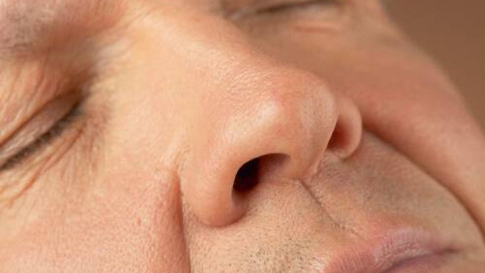 a close-up of a man's face