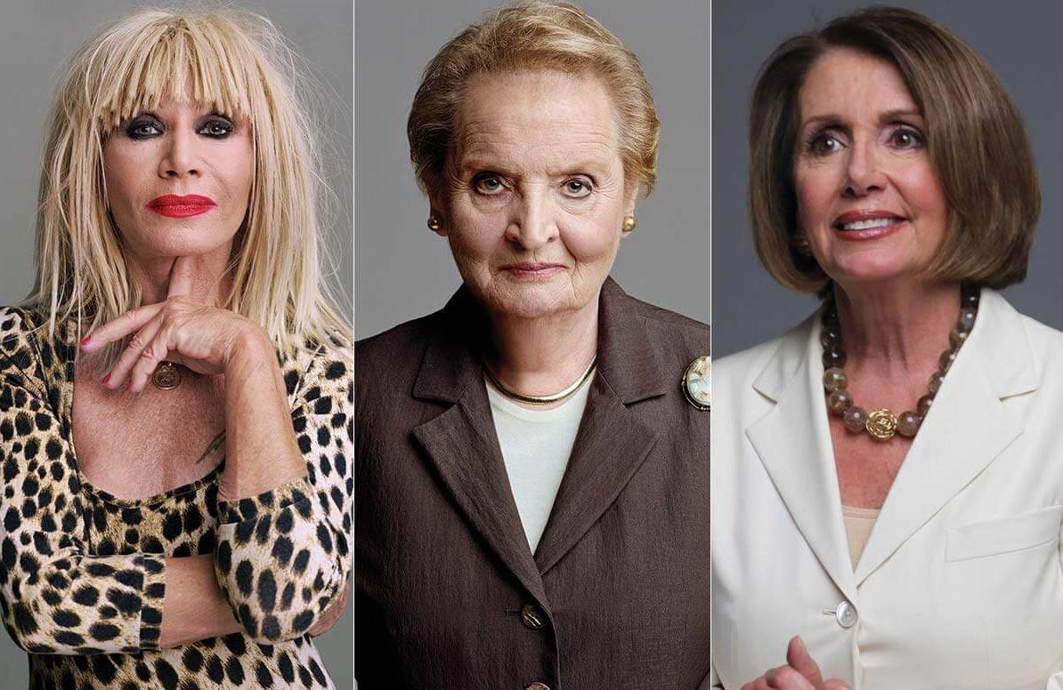 Betsey Johnson, Madeleine Albright, Nancy Pelosi