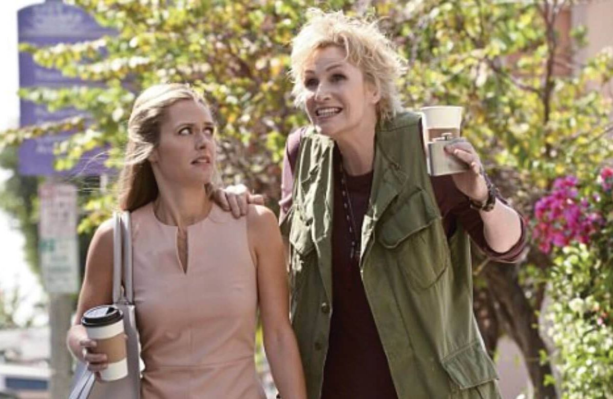 Maggie Lawson and Jane Lynch in Angel from Hell