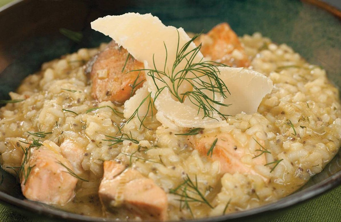 Why Cook With Cannabis Salmon and Rice Cheese Risotto