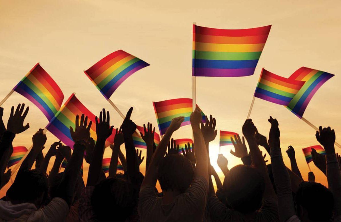 Illustration of LGBT pride flags