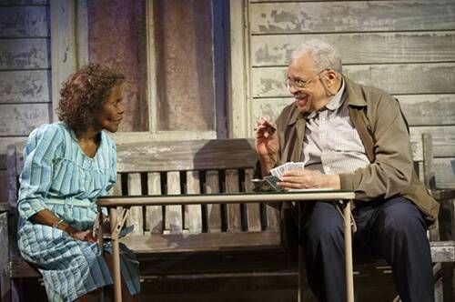 Cicely Tyson and James Earl Jones in D.L. Coburn's The Gin Game, directed by Leonard Foglia