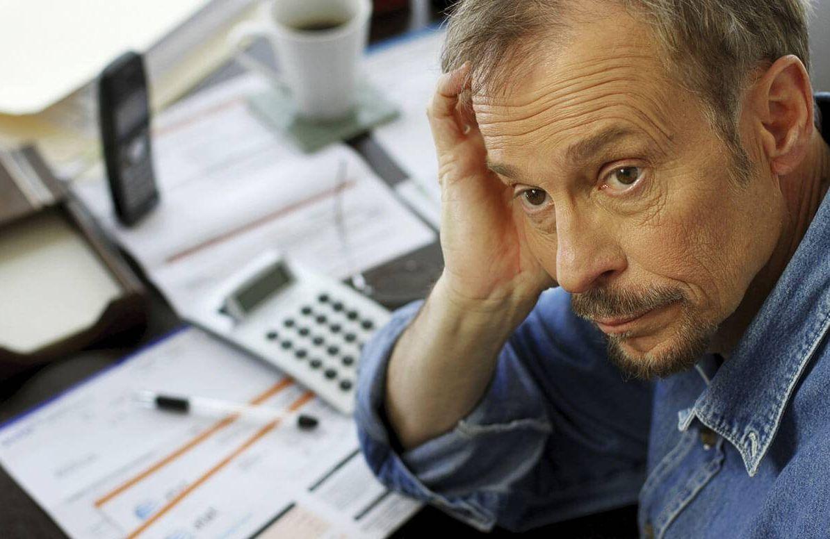 Man evaluating retirement