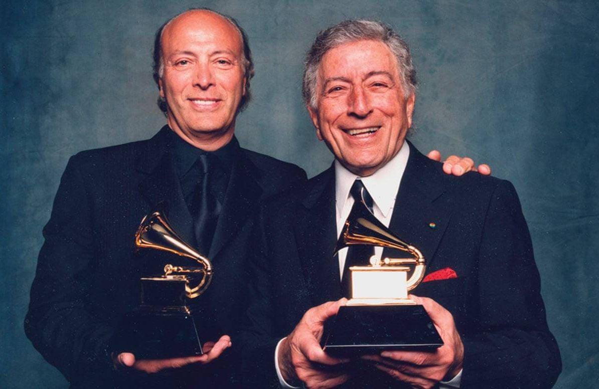 Tony with his son Danny, 2007 Grammy Awards