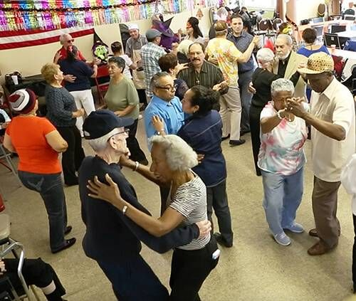 Dancing the Tango at the Brooklyn Public Library in Sunset Park, Brooklyn, New York