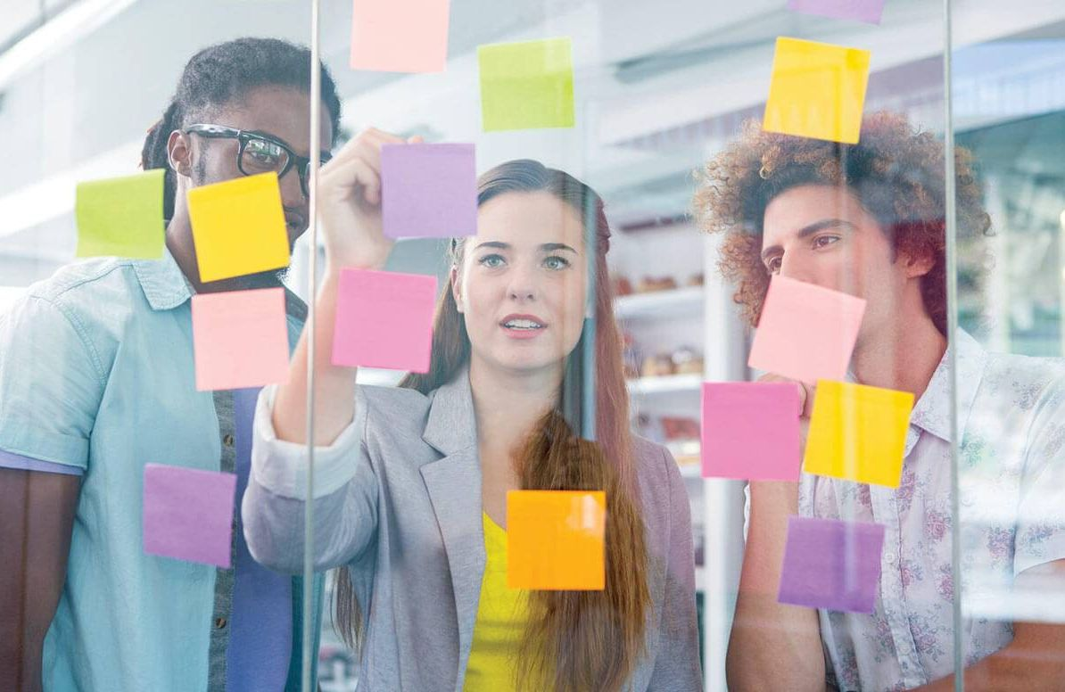 Group of people design thinking