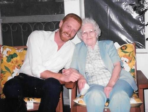 Tim with his grandmother