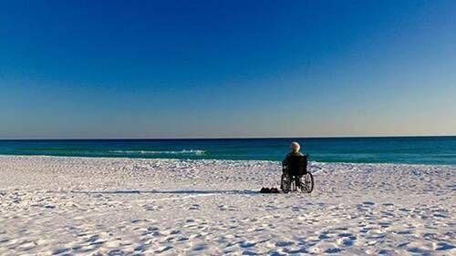 Norma enjoying a Florida beach.