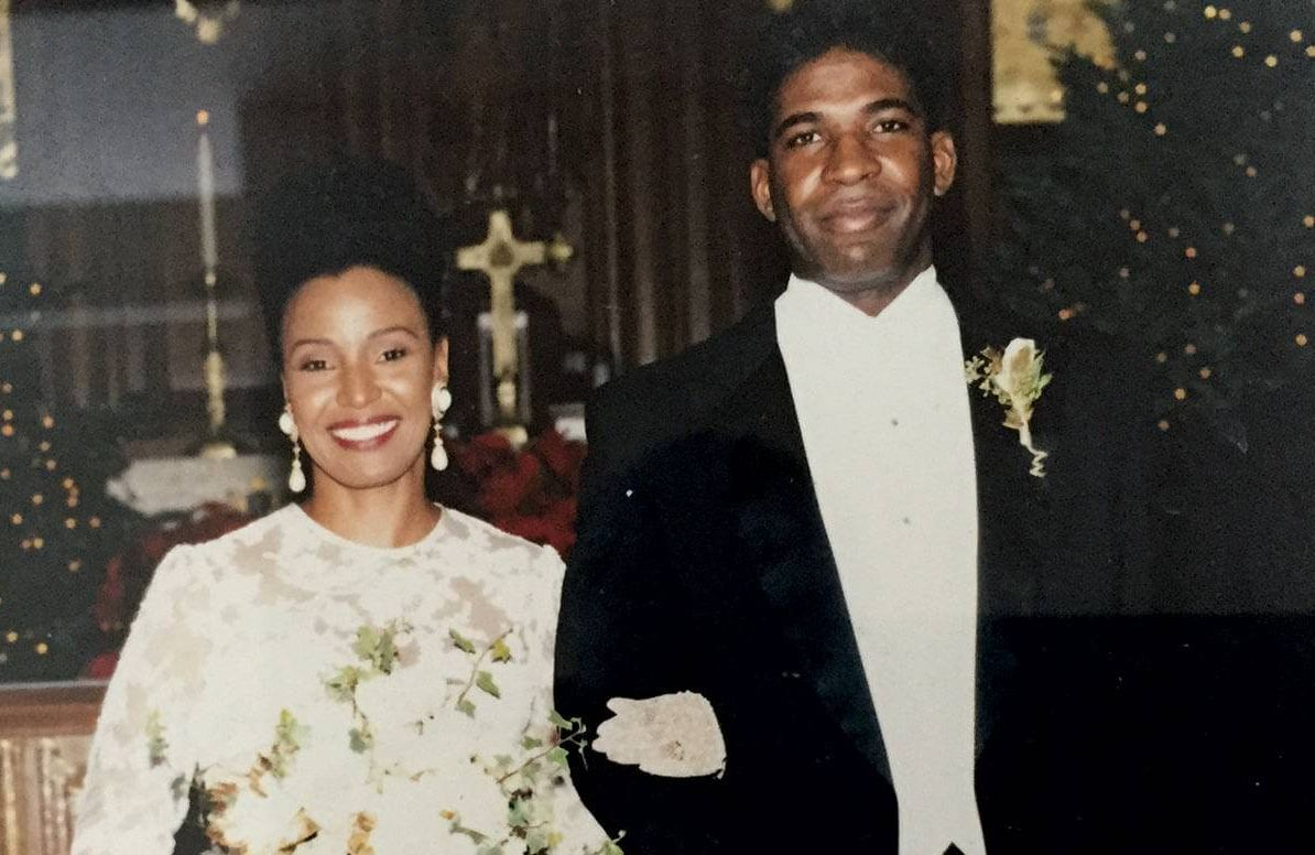 B. Smith and Dan Gasby getting married in 1992