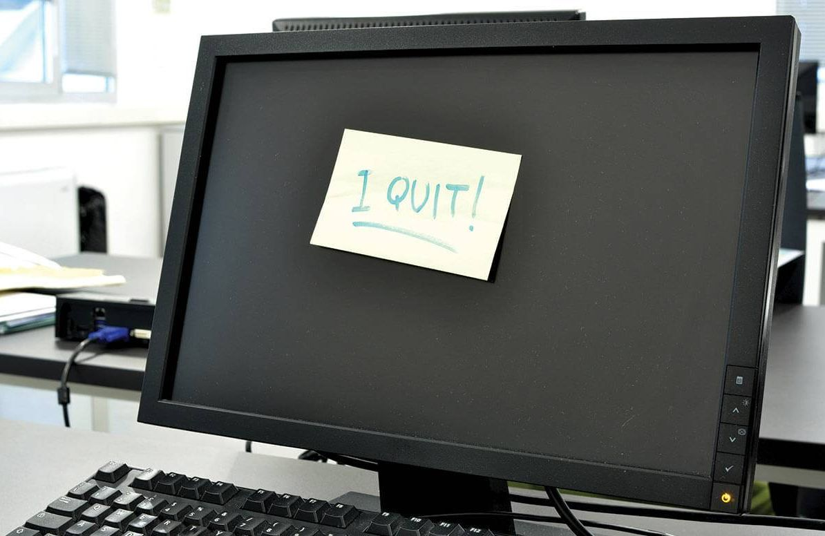 I quit sign on the computer