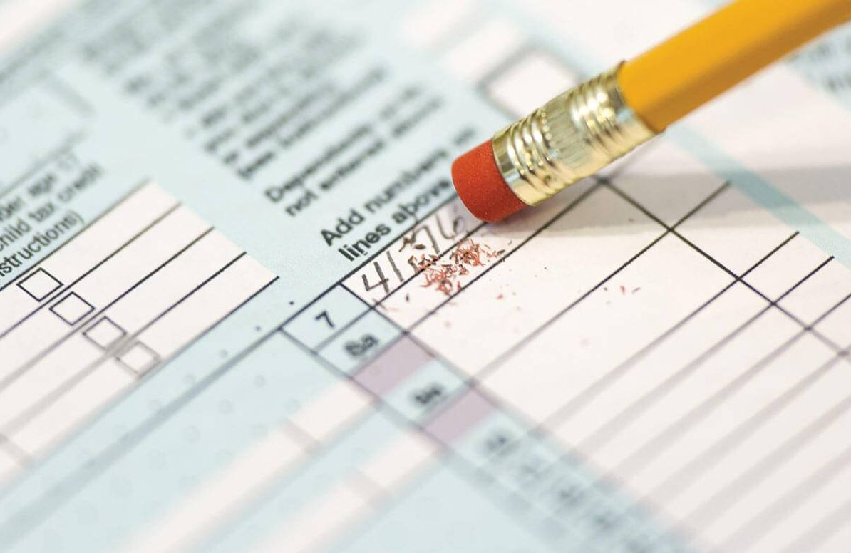 Tax form mistake