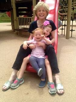 Lesley with her granddaughters