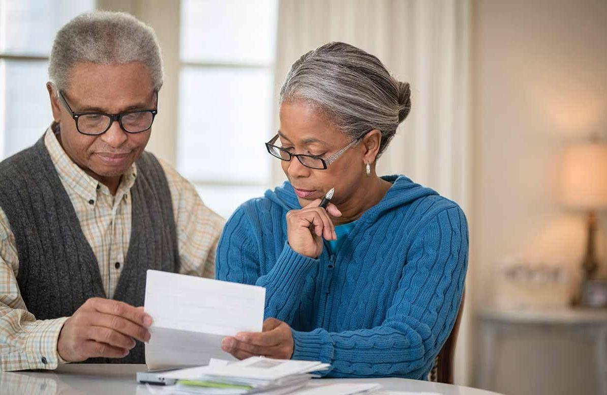 Couple reviewing finances