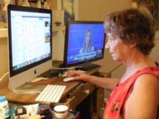 """The computer is so important to me because I have so few people in my life,"" said Phyllis Krantzman, 71"